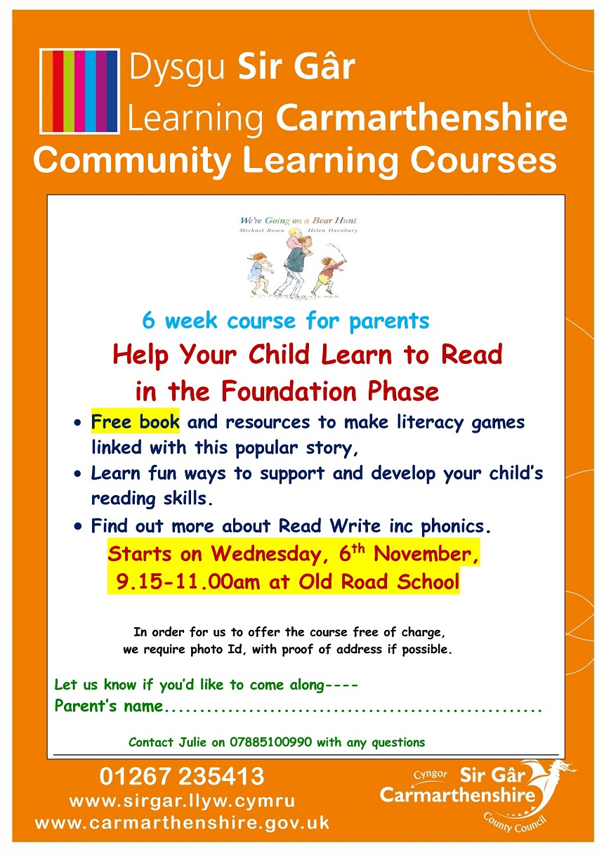 Learning To Read In Foundation Phase Bear Hunt Flier Eng Old Road